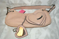 Authentic Vintage JUICY COUTURE Pale Pink Leather Hobo Purse Handbag Shoulder Ba