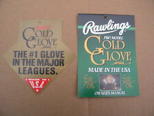 Rawlings Heart of the Hide HOH Made in USA Baseball Glove HANG TAGS Mint