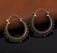 NEW Earrings Hoops Balee Bronze Moroccan Ethnic Boho Tribal Arabic Afghan India