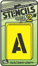 """Assorted 2"""" Number & Letter Stencils by Hy Ko ST-2 NEW"""