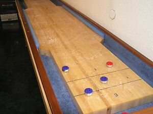 DIY BUMPER SHUFFLEBOARD TABLE PLANS - BUILD A GREAT TABLE - ILLUSTRATED BOOKLET