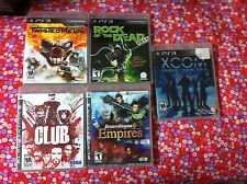bundle ps3 game Dynasty Warriors 6: Empires, twisted metal, xcom,clud, the rock.