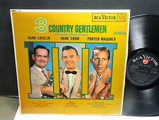 3 country gentlement HANK LOCKLIN / HANK SNOW / PORTER WAGONER RCA SF 7590