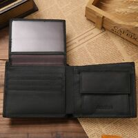 Mens #G Genuine Leather Trifold Wallet Credit ID Card Coin Holder Purse Slim Hot