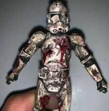 "Custom Star Wars Vintage Collection Zombie Clone Trooper 3 3/4"" Action Figure"