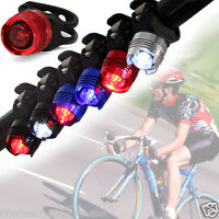 LED Bicycle Cycling Bike Front Rear Flash Light Safety Warning Lamp Multi-colors
