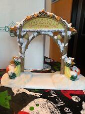 Charming Tails Dean Griff Squashville Est 1994 Village Sign Pumpkins Gourds Nib