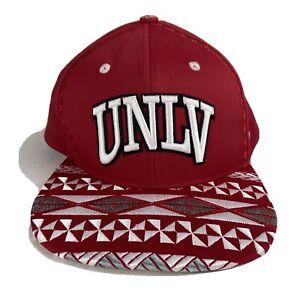 University of Nevada Las Vegas UNLV Rebels Snapback Hat Mens Adjustable Red