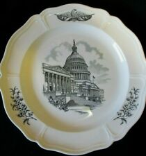 """Wedgwood The Federal City U.S. Capitol Dinner Plate Approx. 10 1/4"""" Excellent"""