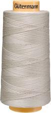 Gutermann Natural Cotton Thread Solids 3,281yd-Sandy Grey, 3000C-618