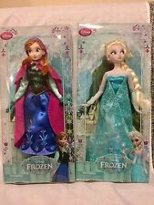 Disney Store Frozen Elsa & Anna Figure Classic Doll Collection Set Brand New