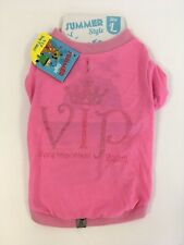 CHARITY LISTING Large Pink VIP Very Important Pooch Dog Pet Clothes Coat