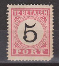 Port nr 6 A TYPE 4 MLH Nederlands Indie Netherlands Indies ZELDZAAM RARE