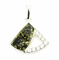 925 Sterling Silver & Baltic Amber Jewellery - AC214 - Designer Pendant