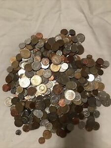 6 Pounds Lot of Mixed Foreign International Coins # 4