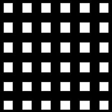 Negro & Blanco Cuadros - Juego de 4 Novedad Divertidos Posavasos - Nuevo/Regalos