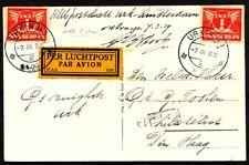 IJSPOSTVLUCHT URK-AMSTERDAM 7.III.1929,2 EX.1 CT.VH H31a (20 EX.GEVLOGEN) Zj184