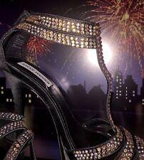 Steve Madden Black Leather Stiletto High Heel Platform Pump Size 8 Priced 2 Sell