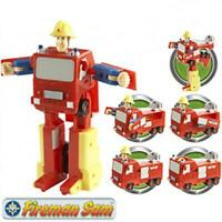 Fireman Sam Convertible Fire Engine Action Figure Transformer Toy Play Set - New
