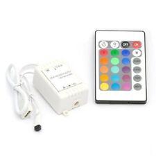 Telecommande IR de 24 boutons sans fil + Recepteur RGB LED 12v Q1M6