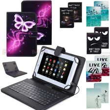 For Samsung Galaxy Tab A 8.0 T380 2017 WITH Keyboard Folio Leather Case Cover