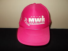 Maui Hawaii Wave Riders Com Surf Surfing School pink  mesh snapback hat sku31