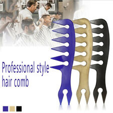 Perfeclan ABS Mens Oil Head Wide Tooth Comb Large Pick Hair Styling Comb Fash EW