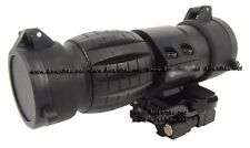 Tactical Airsoft Metal 3x Magnifier Scope Sight with Flip To Side Mount