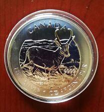 Canada,moneda de plata S/C. 1 onza año 2013 Ciervo. Envío certificado