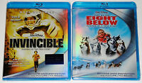 Disney Blu-ray Lot - Invincible (New) Eight Below (New)