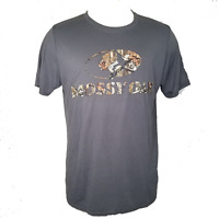 Mossy Oak Men's Front Logo Short Sleeve T-Shirt, Charcoal Size XL New w/ Tags