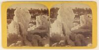 Niagara IN Inverno Foto Stereo PL55L5n Vintage Albumina c1880