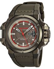 Snyper Men's Two Grey Dial Grey Rubber Strap Swiss Automatic Watch 20.300.00