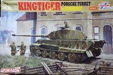 1/35 DRAGON TIGER II Kingtiger avec tourelle de PORSCHE & Zimmerit Finition