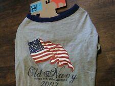 New listing Dog T-Shirt Old Navy United States Of America Flag 2007 Size Large Nwt