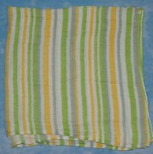Bedtime Originals Yellow Green Stripe Muslin Swaddle Blanket Lambs Ivy Baby