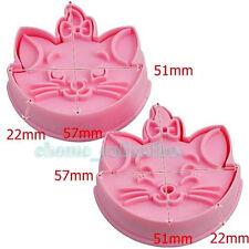 2x Marie Cat Shape Fondant Cake Cookie Plunger Cutter Decoration Mould Chocolate