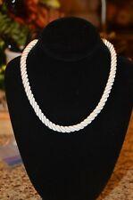 """HEIDI DAUS """"Elegant Essentials"""" white Cord Necklace with Swarovski crystals"""