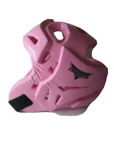 Thunder by PROFORCE Sparring Martial Arts White Helmet Child Size Medium PINK