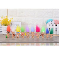 Chromatic 5pcs Lucky Troll Doll Dams Miniature Action Figures Cake Toppers