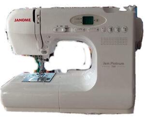 Janome Jem Platinum 760 Speciality 3/4 size machine