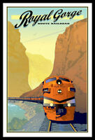 Royal Gorge Colorado Railroad FRIDGE MAGNET 6x8 Magnetic Travel Poster