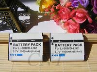 2xLi-50b battery FOR Olympus Tough TG-830 SZ-14 SP-720uz SP-800uz XZ-1 VR-350