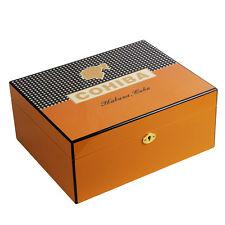 COHIBA Yellow Finish Spanish Cedar Cigar Humidor W/ Lock 50-80 Count