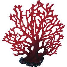 Red Fan Marine Coral, Artificial Aquarium Fish Tank Decoration