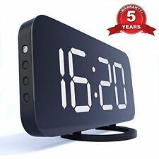 "Digital Alarm Clock - Night Light with Large 6.5"" Display  Mirror Surface"