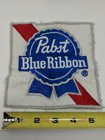 Pabst Blue Ribbon Beer Back Patch Jacket Shirt Uniform Large Huge 70s 80s VTG