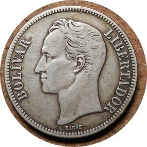 elf Venezuela Gram 25  5 Bolivares 1935 (P)  Silver  Philadelphia Mint  I89