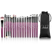 20pcs  Makeup Powder Foundation Eyeshadow Eyeliner Lip Brushes Starter Kit Tool