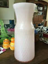 Modern 11 Inch Quilted Pale Pink Cased Vase 28 cm